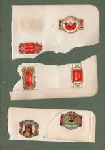 OLD RARE cigar bands cigar rings unique original very old collection * * #117